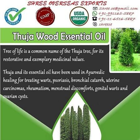 Organic Thuja Wood Oil - USDA Organic