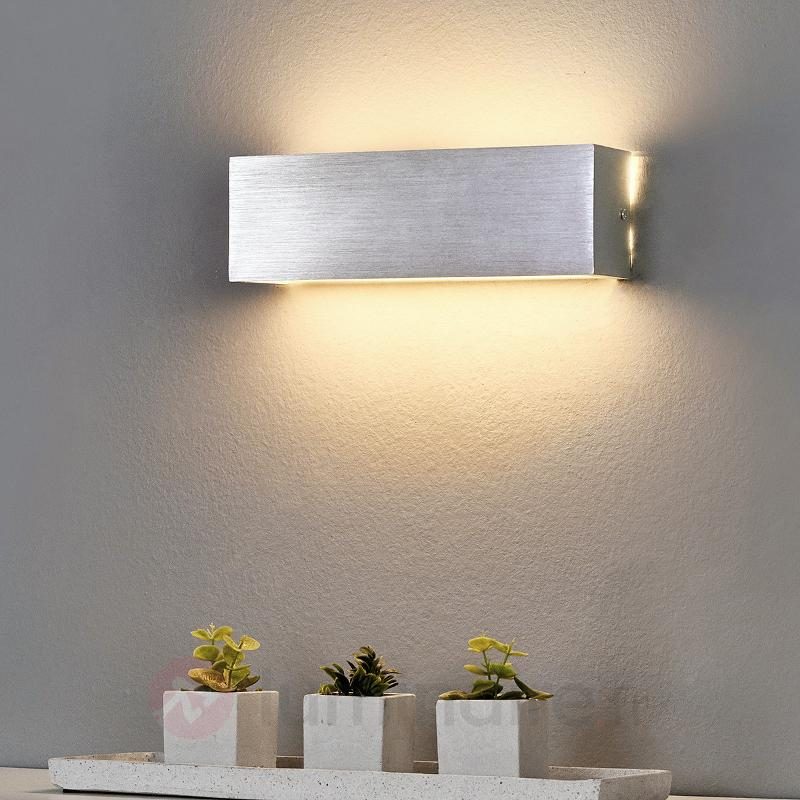 Applique LED carrée Ranik en aluminium - Appliques LED