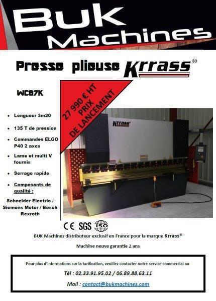 PRESSE PLIEUSE KRRASS - Machines Neuves Prix de lancement