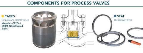 Components for Valves - centrifugal castings for ball valves, butterfly valves and process valves