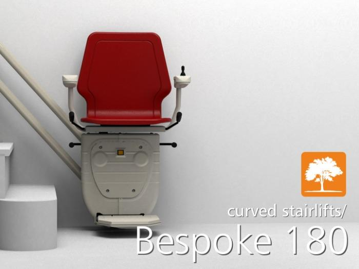 Bespoke 180 Curved Stairlift - Curved Stairlifts