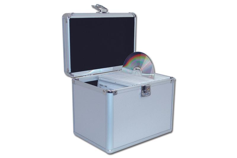 CD Koffer für 120 CD's - silber - CD Koffer / DJ Koffer