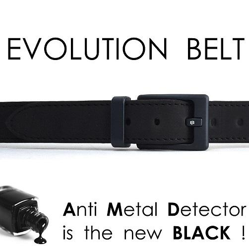 Evolution Belt AntiMetalDetector total black
