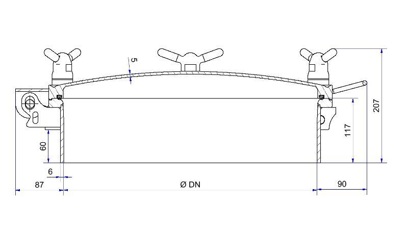 Portes à pression DESP - Porte à pression DESP double brides usinées - Série D15