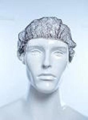 Capuchón de pelo desechable de malla de nylon -