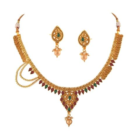 Traditional Choker Necklace Earrings Set