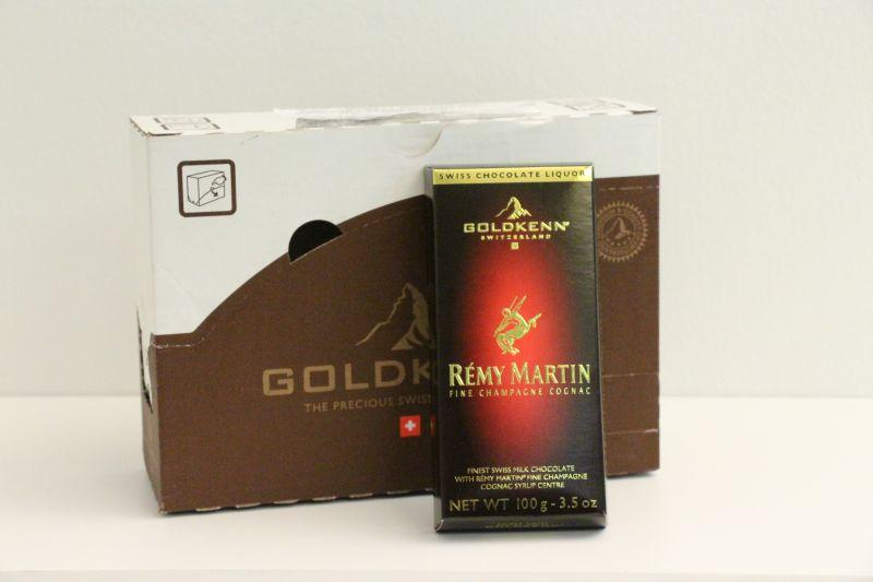 Goldkenn Swiss Milk Chocolate Filled With Remy Martin Cognac -