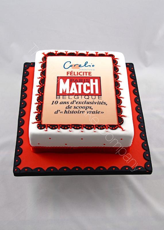 Gâteaux et Pièces Montées sur-mesure - Gâteau Anniversaire Paris Match