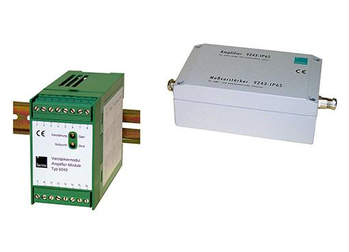 单/多通道应变信号放大器 - 9243 - 内置校准,电位分离,可通过DIP开关配置,易于安装在DIN安装导轨上,可选防护等级为IP65的版本