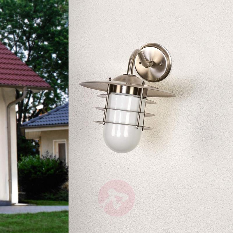 Stainless steel outdoor wall light Milos - stainless-steel-outdoor-wall-lights