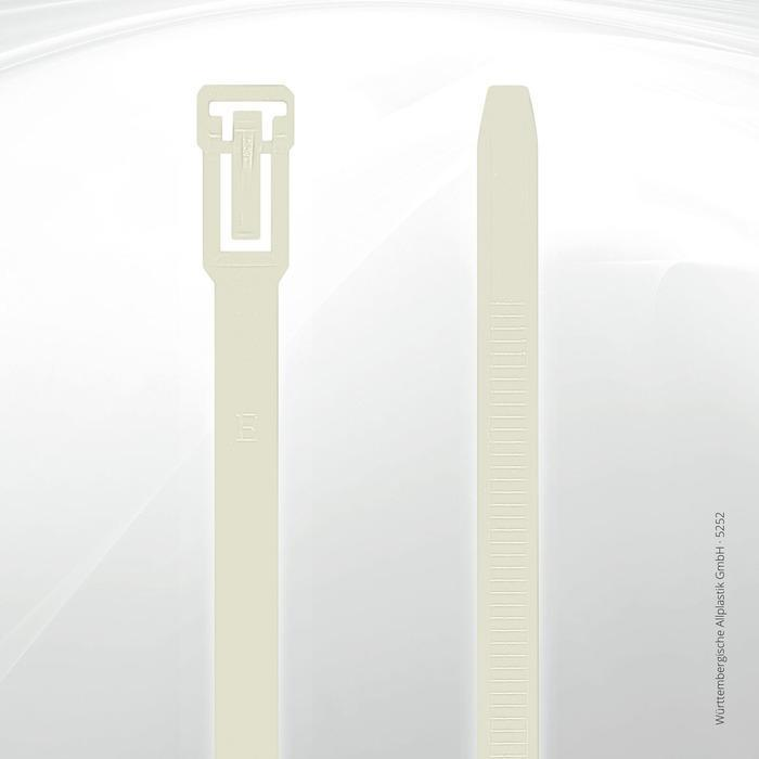 Allplastik-Kabelbinder® cable ties, can be reopened - 5252 (natural)