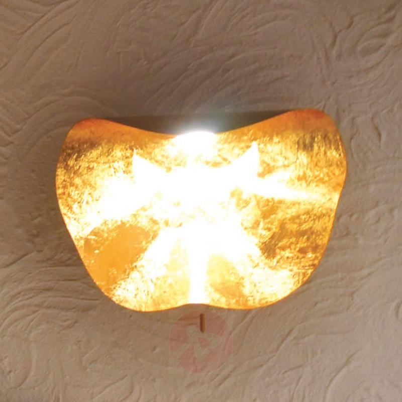 Handcrafted LED wall light Non So 40 cm, gold - design-hotel-lighting