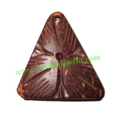 Handmade coconut shell wood pendants, size : 26x25x3mm - Handmade coconut shell wood pendants, size : 26x25x3mm