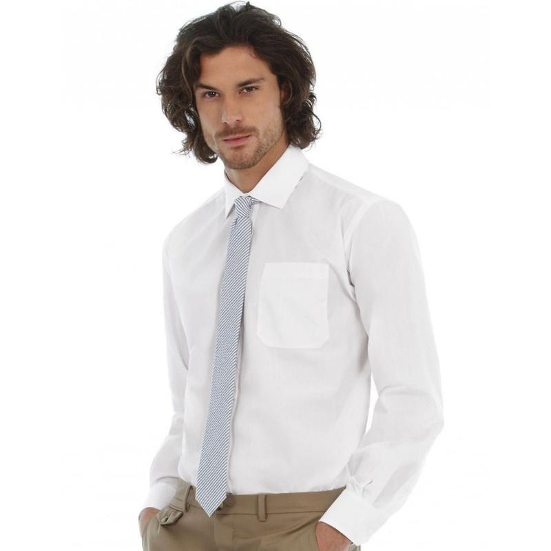 Chemise manches longues homme S-L Poplin - Homme