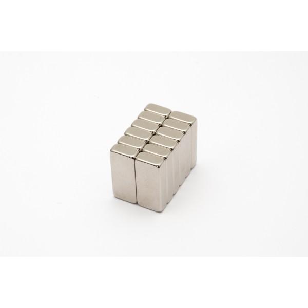 Block magnet, Neodymium, 18x8x4 mm, N45, Ni-Cu-Ni,... - null