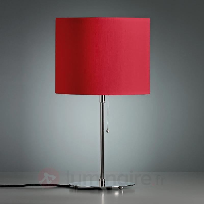 Lampe à poser avec abat-jour en lin coloré - Lampes à poser designs