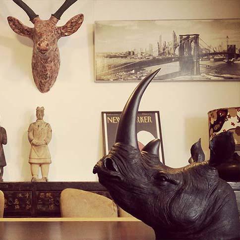 Cabeza animal decoración. Tienda Online - Tienda online decabezas de animal decoradas a mano: decoración exclusiva