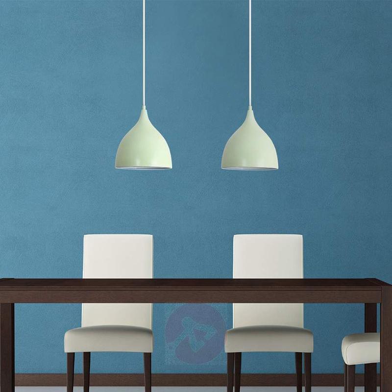 Pastel green metal hanging light Janesa - Pendant Lighting