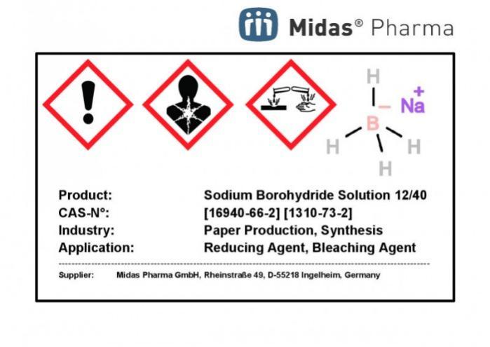 Natriumborhydrid Lösung 12/40 - Natriumborhydrid, 12%ige Lösung in 40%iger Natronlauge