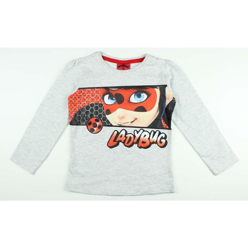Revendeur de T-shirt manches longues LadyBug du 4 au 10 ans - T-shirt et Polo manches longues