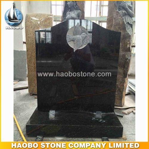 Bird Carving Tombstone - UK Headstone