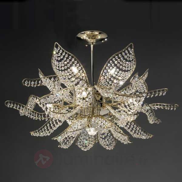 Imposant plafonnier Ninfea 80 cm - Suspensions en cristal