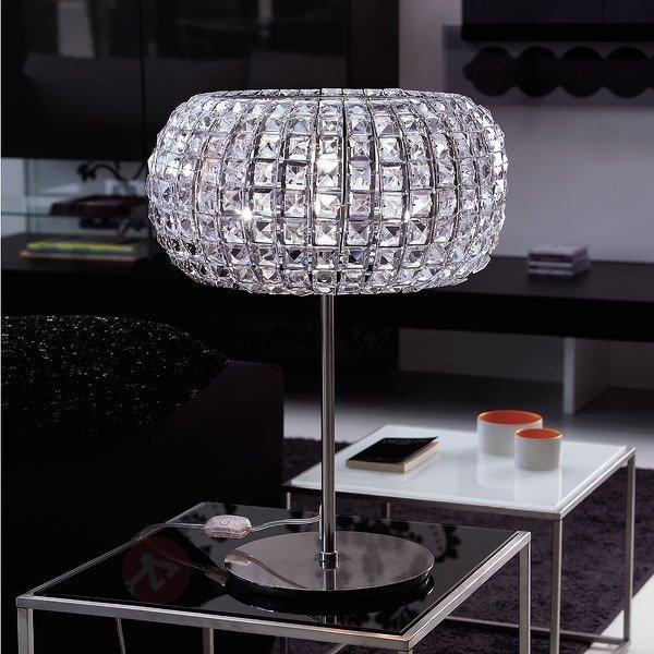 Lampe à poser glamour NASHIRA - Lampes à poser en cristal