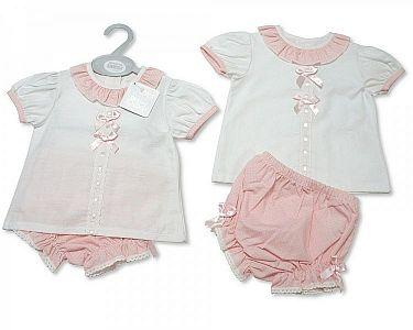 Baby Girls Spanish Style 2 Pieces Set with Bows  -