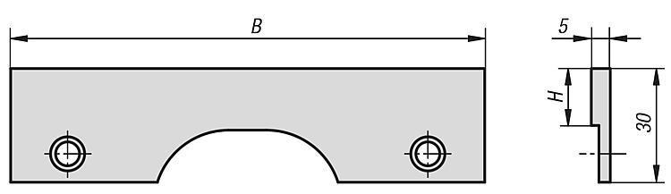 Supports universels, à visser - Etau de bridage 5 axes compact