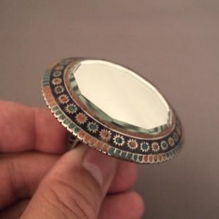 Bagues - Argent, émail, miroir, Pakistan