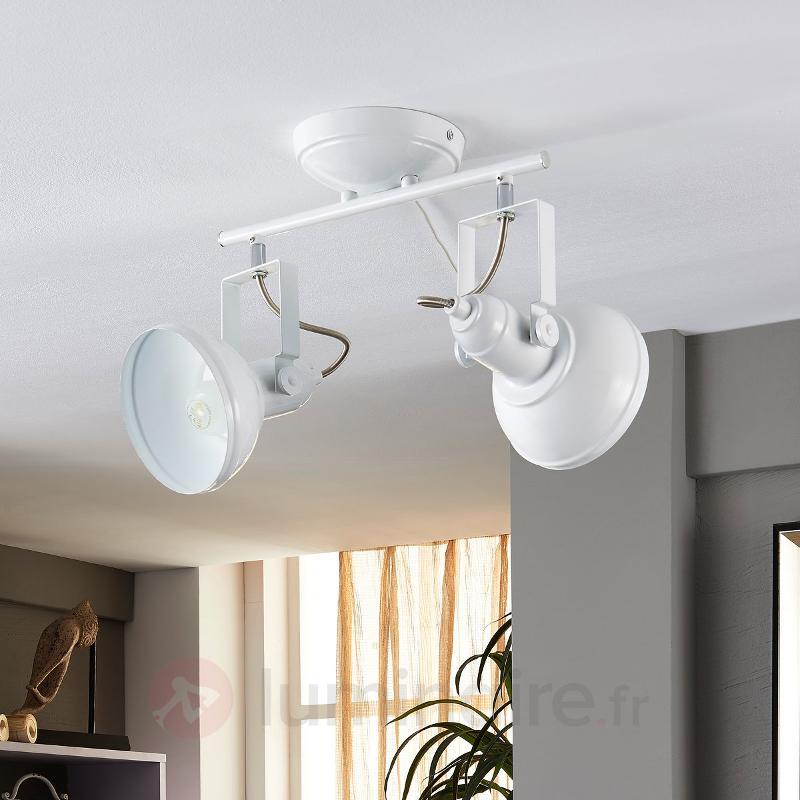 Plafonnier LED Tameo blanc à 2 lampes - Spots et projecteurs LED