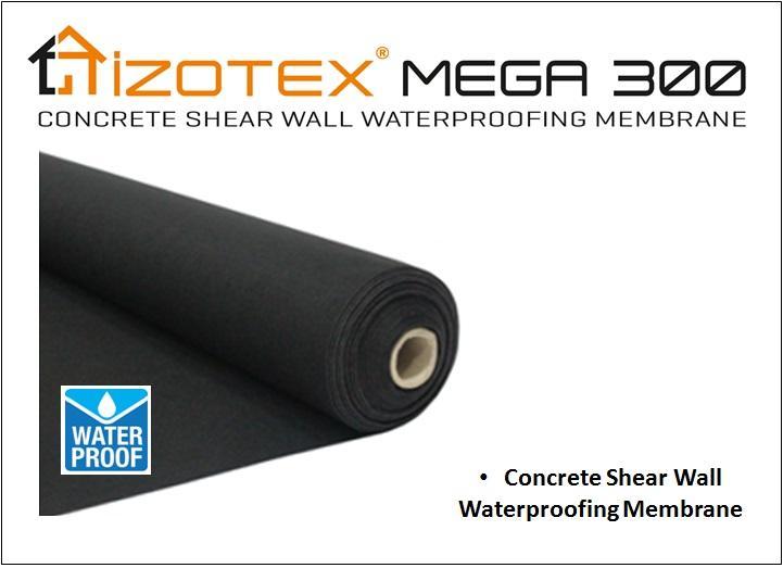 IZOTEX MEGA 300 - Concrete Shear Wall Waterproofing Membrane
