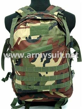 3 Day Molle Assault Backpack Bag Camo Woodland - PNS-BP04