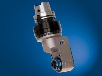 Offset spindle, input coolant through machine taper, output through tool spindle - TAO20.PD
