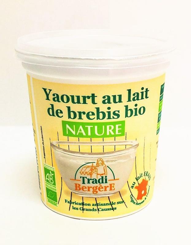 YAOURT AU LAIT DE BREBIS BIO NATURE ( 400 G ) - Produits laitiers