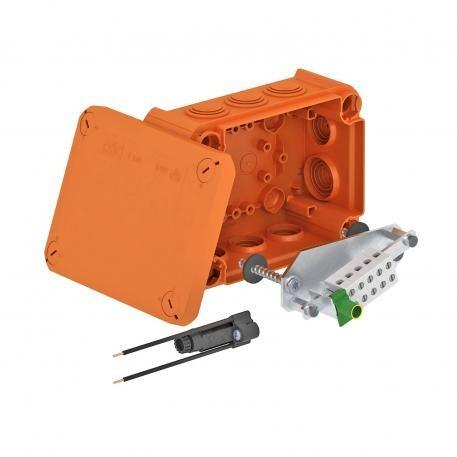 FireBox T100ED with internal fastening and fuse holder - FireBox T100ED with internal fastening and fuse holder, DIN 4102 Part 12.