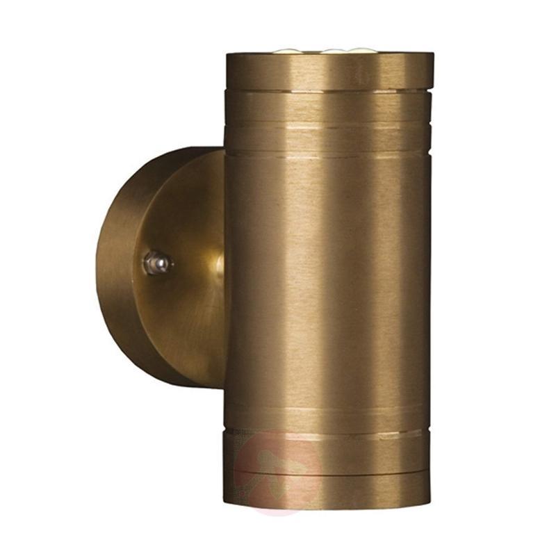 Elite 2 LED Outside Wall Light Brass - outdoor-led-lights