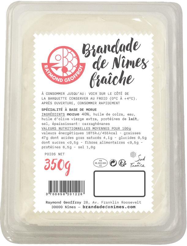 Brandade de Nîmes fraîche 40% de morue barquette 350g - Produits de la mer