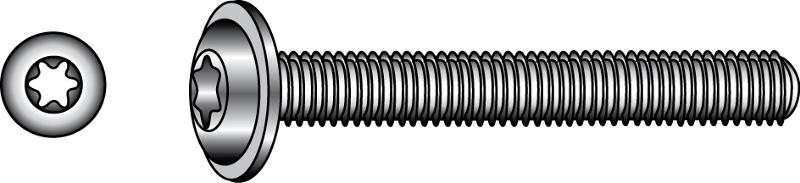 "Button head screws with flange and TX-six lobe drive, ""ULF"" - Material A2 