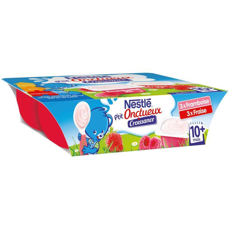 Dessert bébé fraise/framboise 10+ mois 6x60g - NESTLE - Dessert bébé fraise/framboise 10+ mois 6x60g - NESTLE