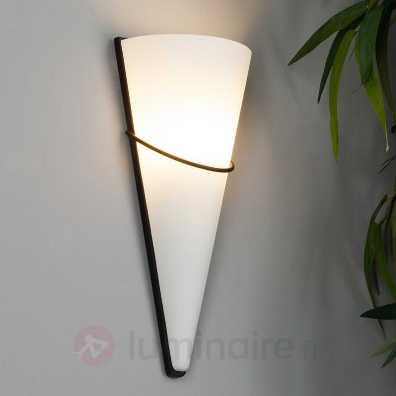 Applique LED Melek avec décoration couleur rouille - Appliques LED
