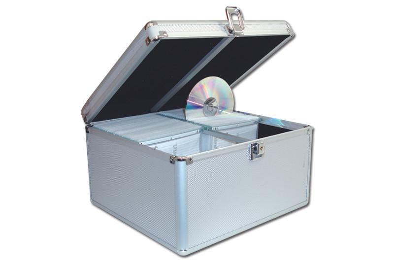 CD Koffer für 300 CD's - silber - CD Koffer / DJ Koffer