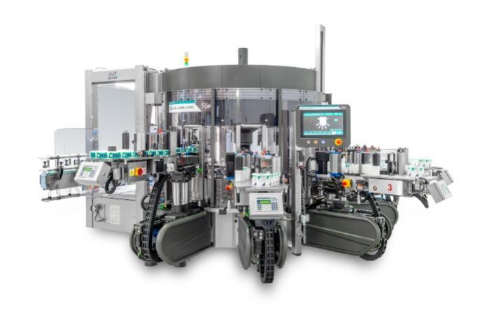 Modular - Etichettatrice rotativa combinata e modulare autoadesiva e colla a freddo