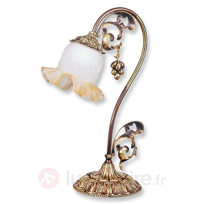 Lampe à poser Albero avec finition antique dorée - Lampes à poser classiques, antiques