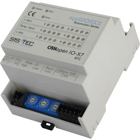CANopen IO-X7, 8 Temp (TC) - Automation Components