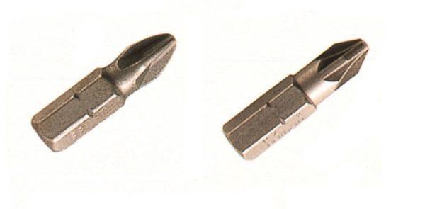 Inserto attacco 1/4″ impronta cruciforme PH/PZ - Attrezzature