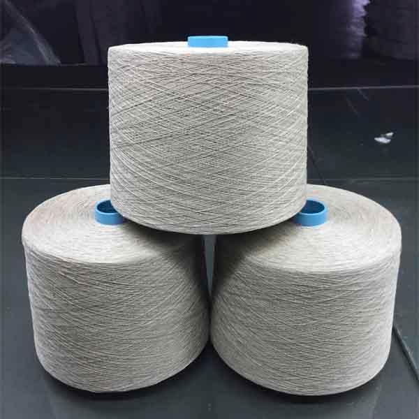Long hemp gray yarn - 24Nm