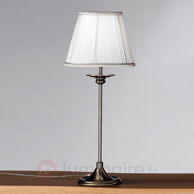 Lampe à poser classique Ellen abat-jour plissé - Lampes à poser classiques, antiques