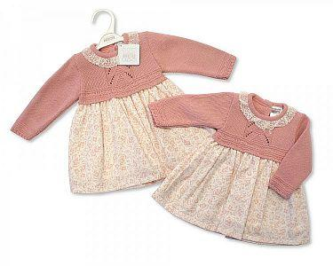 Spanish Style Knitted Baby Dress  -