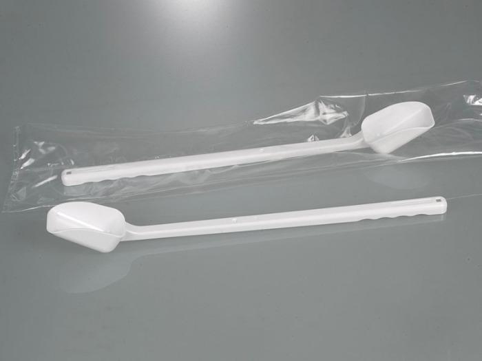 Pelle à échantillon, poignée longue, jetable - Équipement de laboratoire, matériel d'échantillonnage